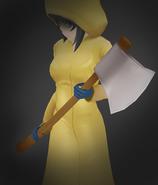 Yandere-chan w płaszczu z siekierą