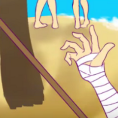 Osoro的手,顯示在影片