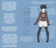 Concept art finalnej wersji Yandere-chan z 20 kwietnia
