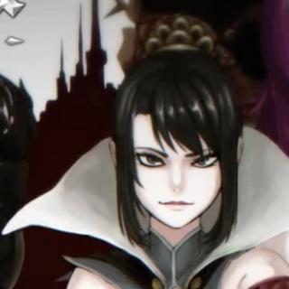 Beldere-chan in the title screen.