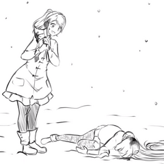 Yandere-chan next to a dead Osana in <a rel=