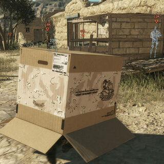 A cardboard box in <i><a href=