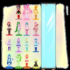 Modelos de la mayoría de figuras de Magical Girl Pretty Miyuki hechas por <a rel=
