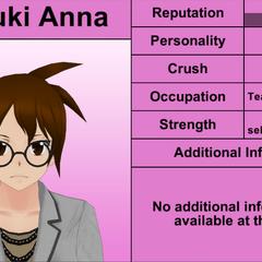 Natsuki Anna的第七版個人資料 [04/04/2016]
