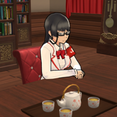 Kuroko in the student council room in-game.