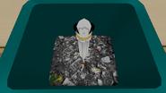 Magical Girl Wand in Trash Can