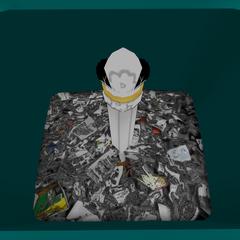Varinha mágica escondida no lixo