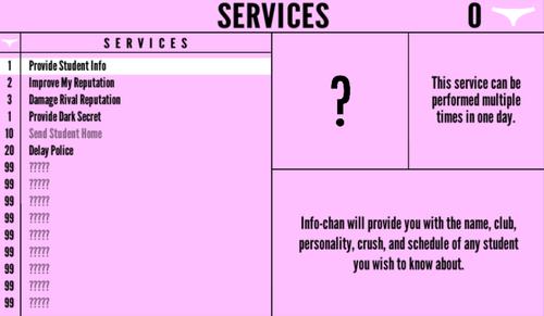 Menu Usług nowy wygląd