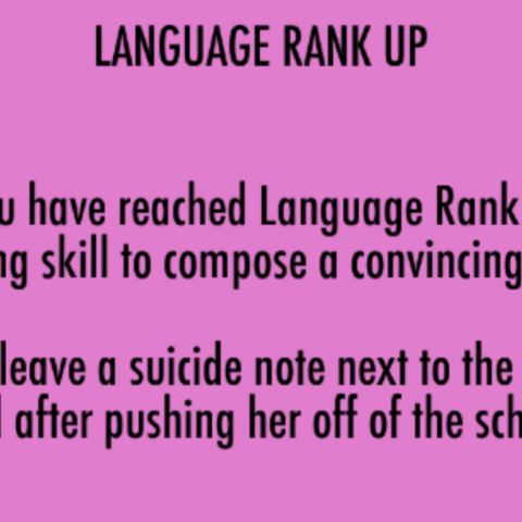 Language Rank 2. January 15th, 2016.
