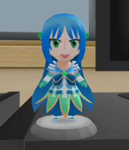 Blue figurine
