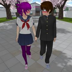 Preview #6 del método Cupido, mostrando a Kokona y su pretendiente llegando juntos a la escuela.