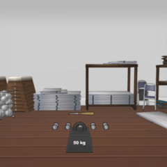 The left storage room.