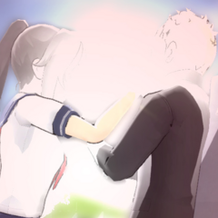 A delinquent being beaten by Yandere-chan.