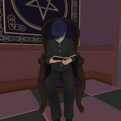 Chojo reading in the Occult Club. July 24th, 2016.