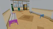 Скамейки в кафетерии