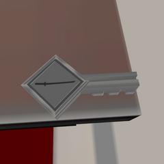 Chave do compartimento da Katana