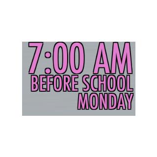 7:00 AM at school. October 9th, 2015.
