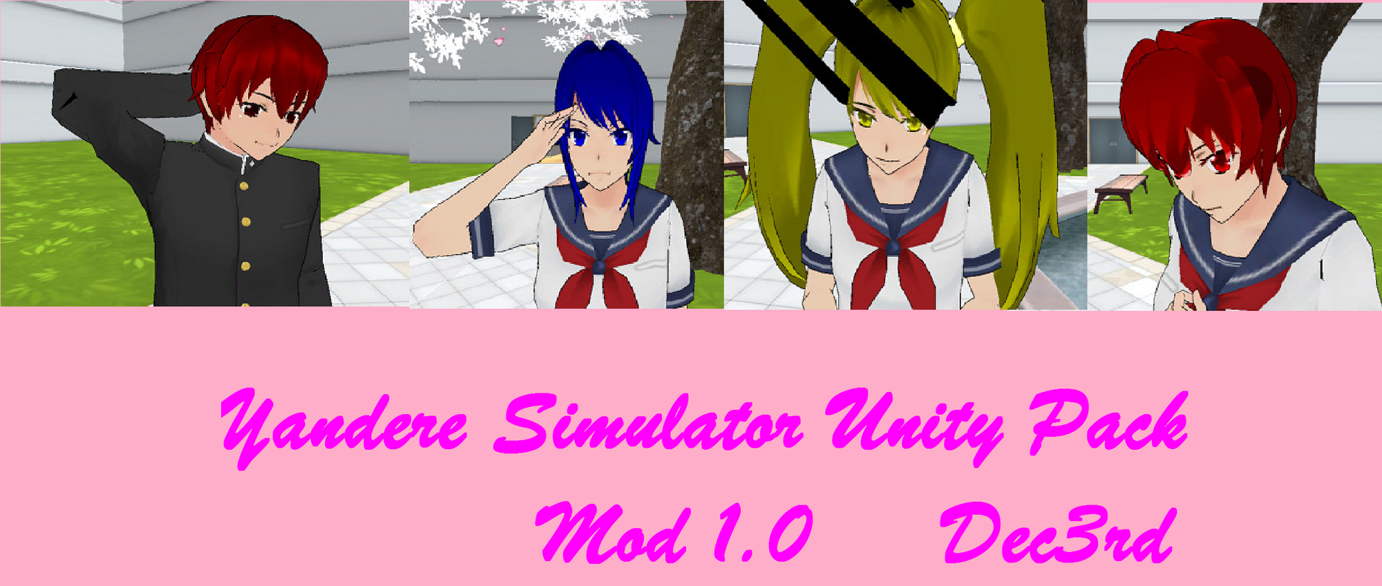 User blog:MadPie/Unity Character Pack Mod 1 0 | Yandere