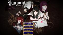 Yanvania. Главное меню