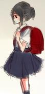 Ayano z plecakiem