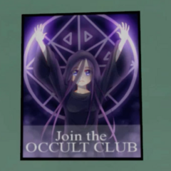 Poster for the Occult Club.