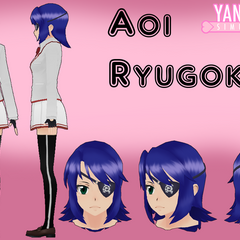 Aoi's unused hair model by Qvajangel.