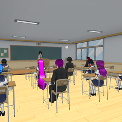 Kaho Kanon's class, Class 3-2, in an old build.
