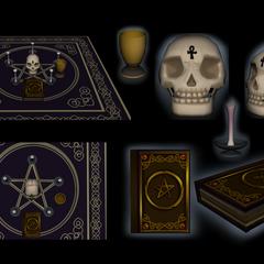Varios de los objetos del club por <a rel=