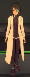 Ayano w stroju klubu naukowego