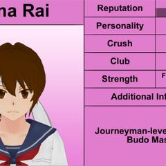 Primeiro perfil de Mina.