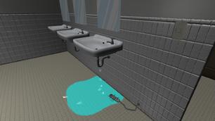Убийство током- Раковина в туалете