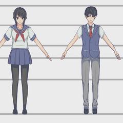Comparación del uniforme y modelo actual con un uniforme y modelo futuro visto en <a rel=