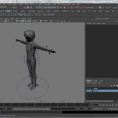 Rig kontrol Senpai untuk menciptakan animasi.