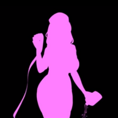 A silhouette of Muja from