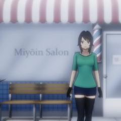 The hair salon.