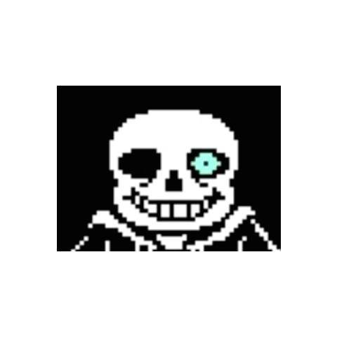 Sans' glowing eye.