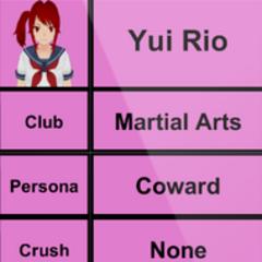 Segundo perfil de Yui.