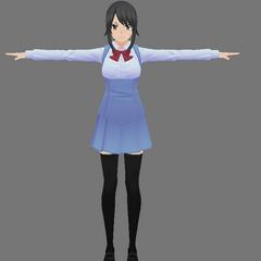 病嬌醬的原創女生制服模型,顯示在部落格帖文<a rel=