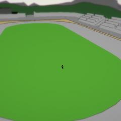 Prototipo da pista, vista na cidade antiga.