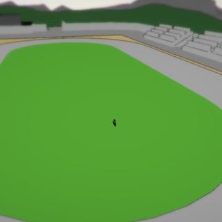 原本的操場,在第一個版本小鎮看到