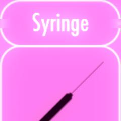 Sprite art for syringe. January 3rd, 2016.