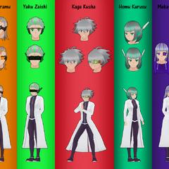 Modelo de los miembros del club de ciencias hecho por <a rel=