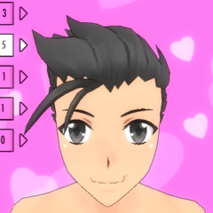 Hair Style #5 (Slicked Back)