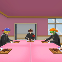 Students in the Cooking Club room. August 18th, 2018.