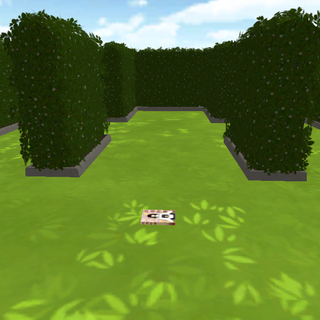 The center of the maze with <i>Yokai Story: Volume 1</i> on the ground.