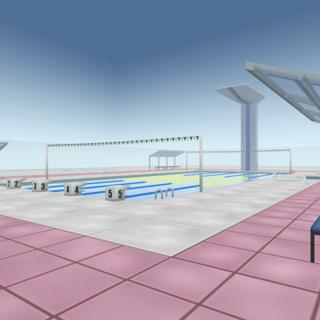 Outra imagem da piscina.