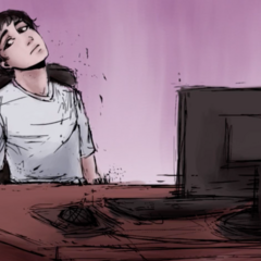 YandereDev at his desk in <a rel=