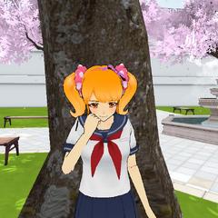 Rival-chan blushing.