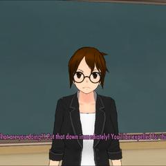 Natsuki訓導攜帶武器的玩家
