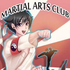 Poster actual del Club de Artes Marciales ubicado en la zona de los casilleros. Este poster fue dibujado por la artista <a rel=